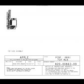 APPLE IPHONEX X891 X893 820-00863 820-00869 051-02221 BOARDVIEW