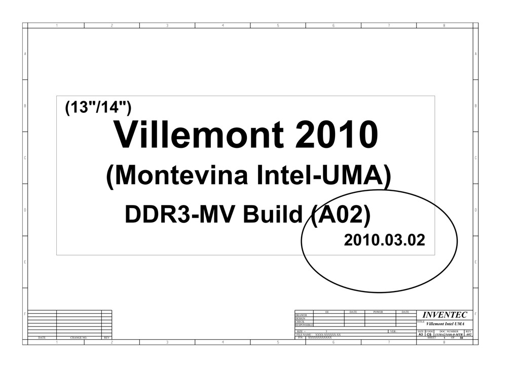 Hp Compaq 320  Gm45  13 U2033  14 U2033  Schematic  U2013 Villemont Intel