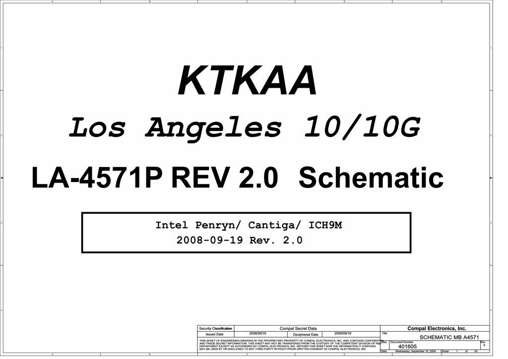 Toshiba Satellite A350  A355 Schematic  U2013 Ktkaa La
