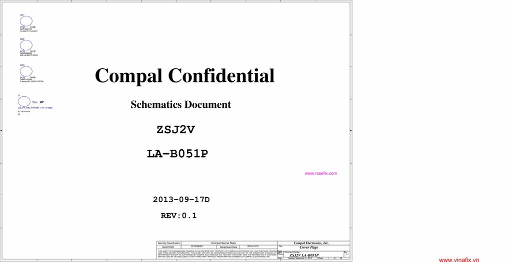 COMPAL ZSJ2V REV:0 1 SCHEMATIC - LA-B051P